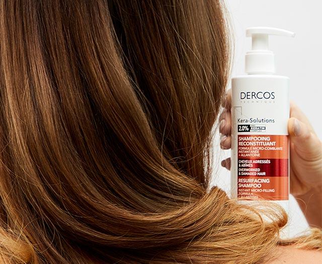 Кера-Солюшнз - шампунь з комплексом Про-Кератин для реконструкції поверхні пошкодженого ослабленого волосся