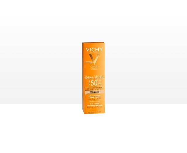 Сонцезахисний крем з тонуючим ефектом проти пігментних плям 3 в 1 SPF 50+