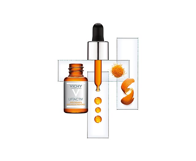 Інтенсивна сироватка-антиоксидант для відновлення шкіри обличчя від ознак втоми