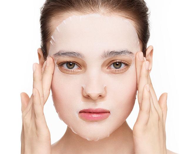 Зміцнююча тканинна маска для зволоження та відновлення шкіри обличчя